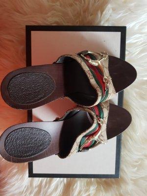 Gucci Sandalias tipo clog multicolor
