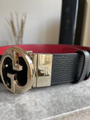 Gucci Cinturón reversible negro-rojo