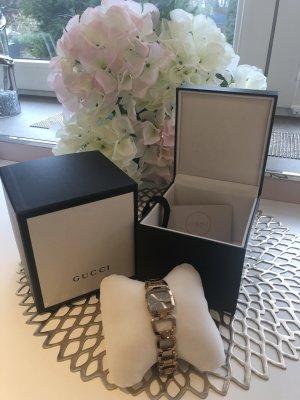 Gucci Reloj con pulsera metálica color oro-color rosa dorado