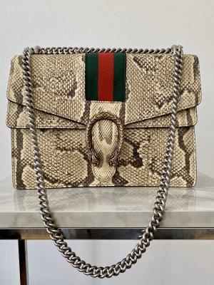 Gucci Shoulder Bag oatmeal-beige reptile leather