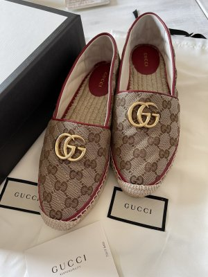 Gucci Pantoffels beige-donkerrood