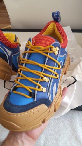 Gucci Sneaker alta blu-rosso scuro Nylon