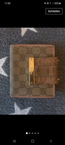 Gucci Portefeuille or rose-marron clair