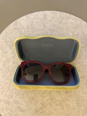 Gucci Okrągłe okulary przeciwsłoneczne ciemnoczerwony