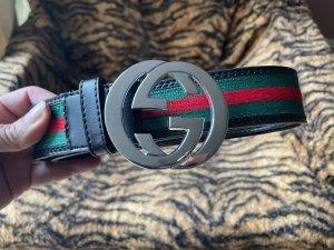 Gucci Cinturón de cuero multicolor