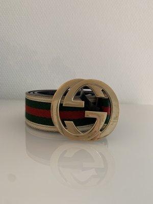 Gucci Cinturón de tela multicolor