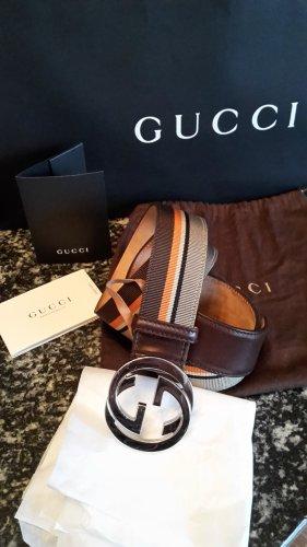 Gucci Boucle de ceinture brun cuir