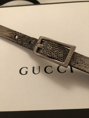Gucci Leather Belt gold-colored-black leather