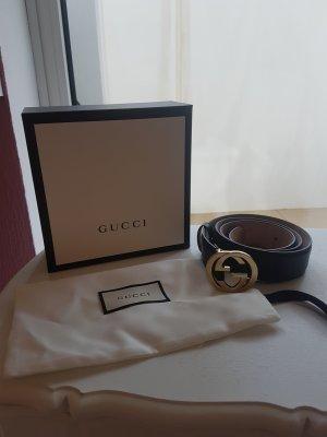 Gucci Lederen riem zwart Leer