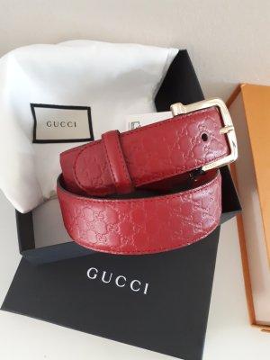 Gucci Leather Belt carmine