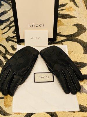 Gucci Guantes con dedos negro