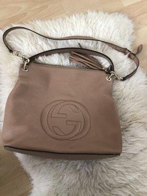 Gucci Handtas beige-room Leer