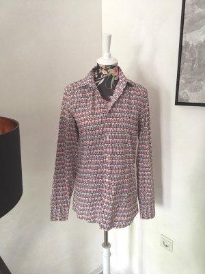 Original Gucci Hemd Bluse Ketten Muster Gr S 36 ital 38/15