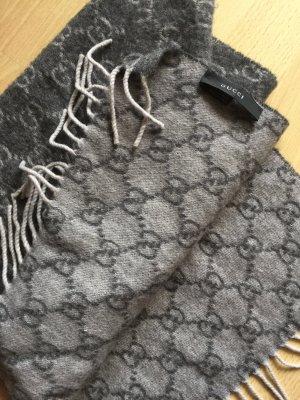 Gucci Sciarpa in cashmere grigio scuro-grigio chiaro Cachemire
