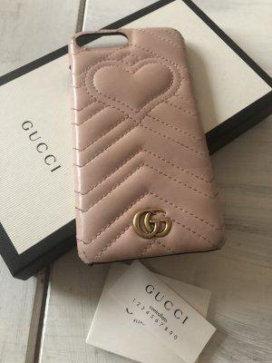 Gucci Pokrowiec na telefon komórkowy stary róż-różany Skóra