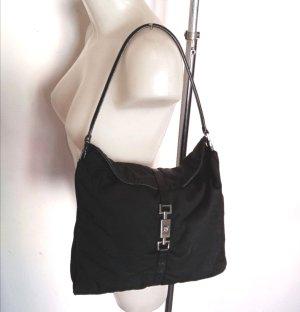 Original Gucci Leder Jackie Shoulder Bag Tasche schwarz