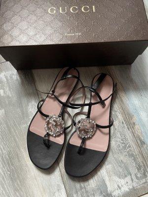 Gucci Sandalo toe-post nero Pelle