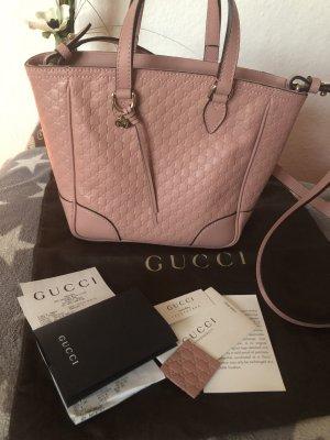 Original Gucci Leder Tasche rosa mit Logo Neu mit Rechnung !