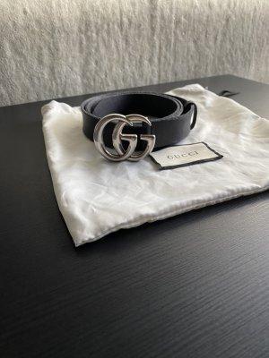 Original Gucci Ledergürtel mit GG Schnalle 85