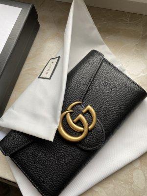 Gucci Portemonnee zwart-goud Leer