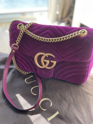 Original Gucci Marmont Velvet Bag fuchsia