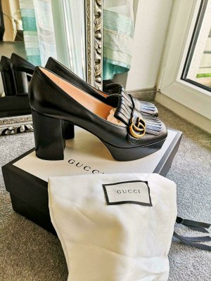 Gucci Tacones con plataforma negro