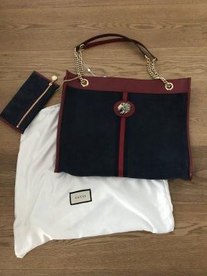 Gucci Shopper bleu cuir
