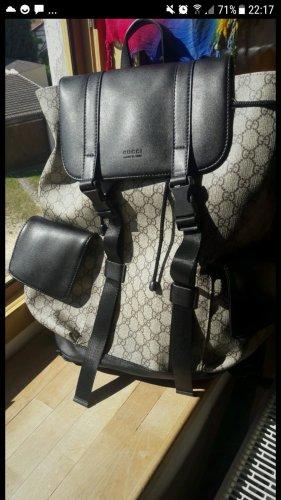 Gucci Sac à dos de randonnée noir-beige