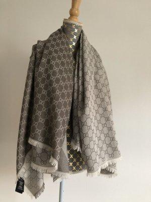 Gucci Bufanda de seda camel-crema Algodón