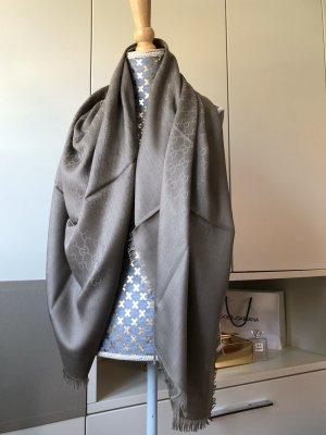 Gucci Sciarpa di seta grigio-marrone-grigio Seta