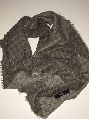 Gucci Bufanda de lana gris antracita-gris oscuro