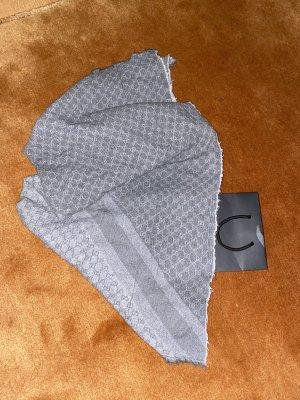 Gucci Fazzoletto da collo grigio chiaro-argento