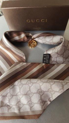 Original Gucci Seidentuch 100 % Seide mit Gucci Anhänger & Box