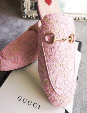 Gucci Pantuflas color rosa dorado