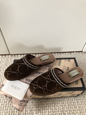 Gucci Sabots bronze-colored-grey brown