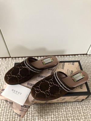 Gucci Mocassins zwart bruin-wit