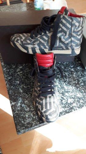 Gucci High top sneaker donkergrijs Leer