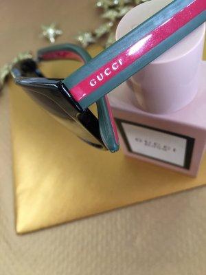 Gucci Hoekige zonnebril veelkleurig