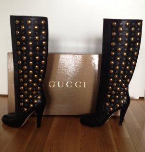 Original Gucci Stiefel aus Leder mit Nieten
