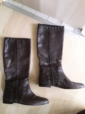 Gucci Slouch Boots brown leather