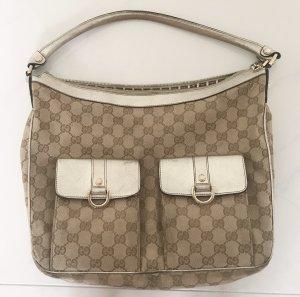 Original Gucci Tasche beige mit gold