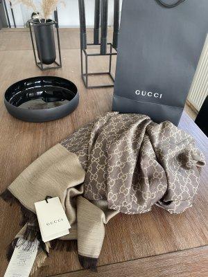 Gucci Pañoleta color bronce-crema