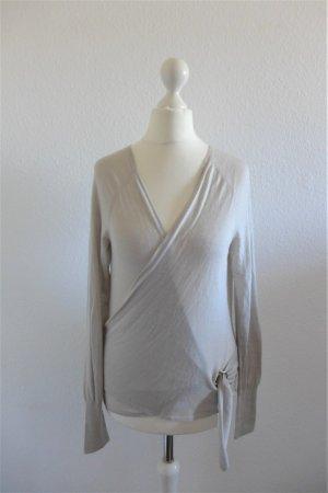 Original Gucci Wickel-Pulli Oberteil Wolle beige grau Gr. S 34 36 38
