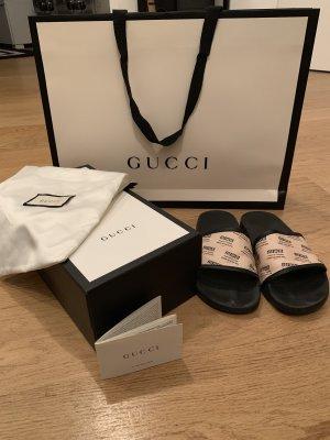 Gucci Sandały plażowe czarny-jasnożółty
