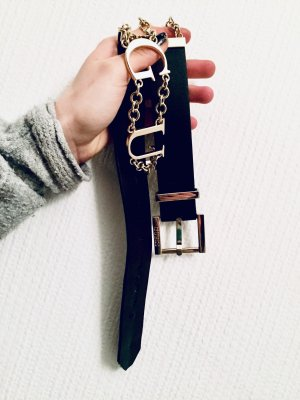 Guess Waist Belt black-gold-colored leather