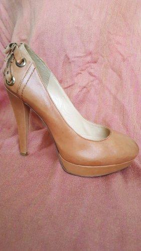 Street Schuhe Leder Pumps Rosa Puder Gr. 39 neuwertig NP 80,00