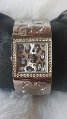 Original Guess Silber Armbanduhr(Leoparde Motiv)