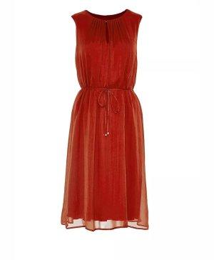 Original Hallhuber Seidenkleid rot Gr. 36 Kleid Sommerkleid Dress  aus Seide