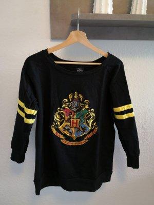 Original Harry Potter Pulli Sweater schwarz Damen S Baumwolle mit Druck