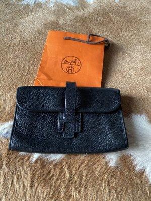 Original Hermès Geldtasche Tasche Geldbörse Börse schwarz Leder